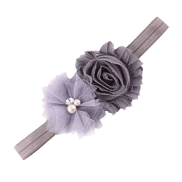 Flower Headband - Grey