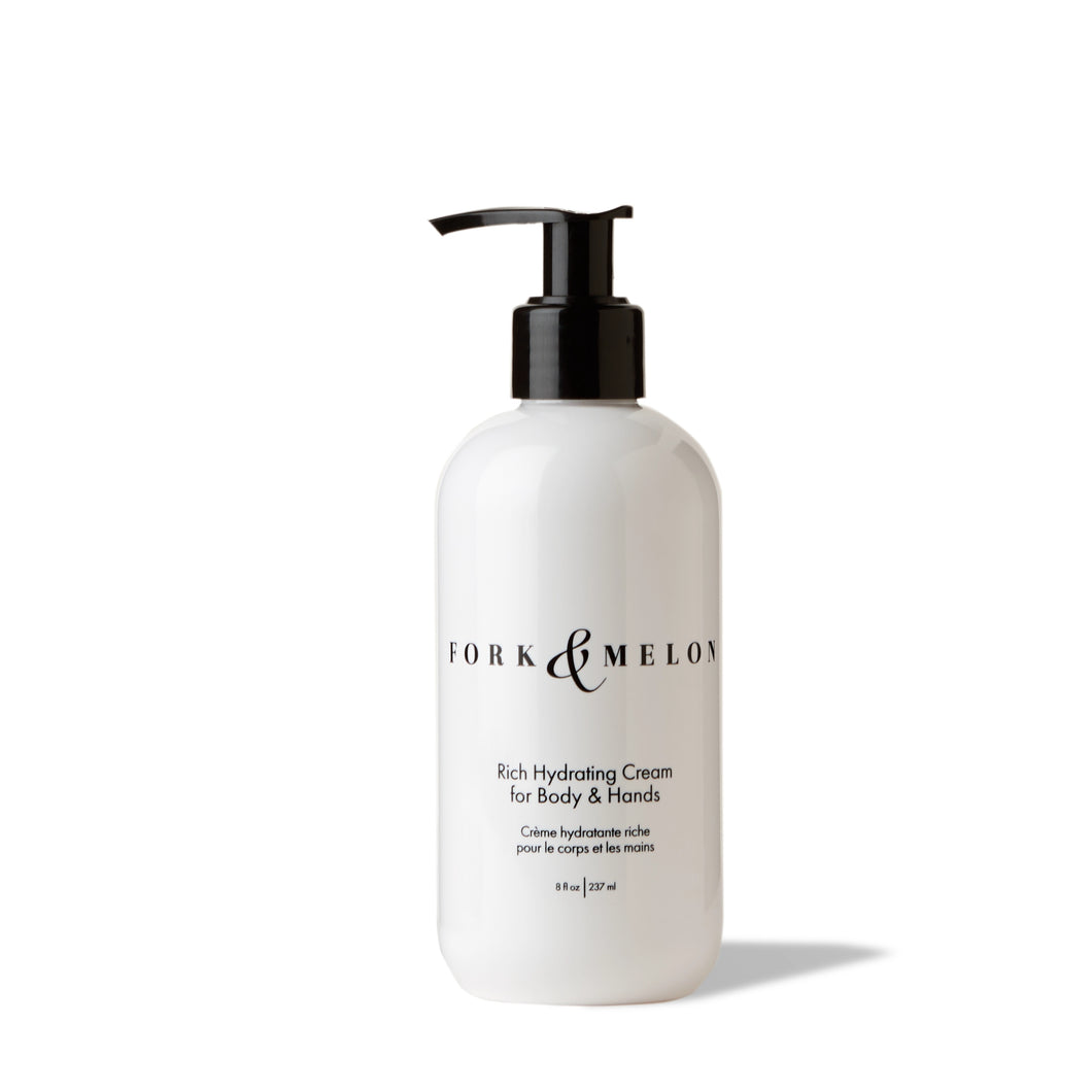 Black and white hand lotion / body lotion (8oz) by FORK & MELON