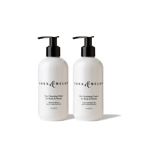 Fine Cleansing Wash + Rich Hydrating Cream (Regular Size Set)