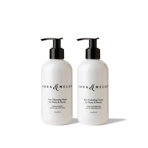 FORK & MELON hand/body wash & lotion set (8oz)
