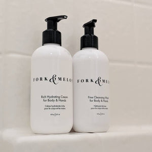 F&M hand/body wash & cream in shower