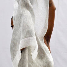 Load image into Gallery viewer, Gauze Linen Scarf - Flax/Off-White