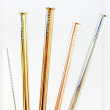 Load image into Gallery viewer, Eco Friendly Reusable Straw 6 Piece Set - Love Your Dog