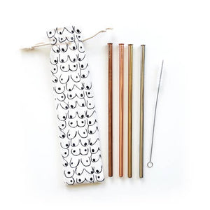 Eco Friendly Reusable Straw 6 Piece Set - Love Your Body
