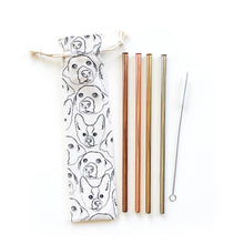Load image into Gallery viewer, Love Your Dog Reusable Straws - 6 Piece Set
