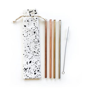 Splatter Reusable Straws - 6 Piece Set