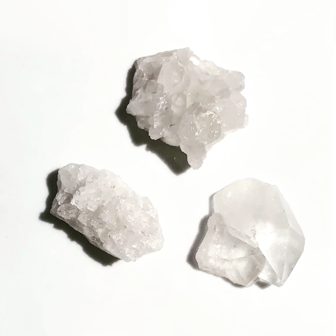 clear crystal quartz clusters