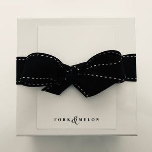 luxury black & white gift wrap by FORK & MELON