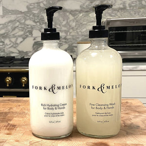 Fine Cleansing Wash + Rich Hydrating Cream (Glass Set)