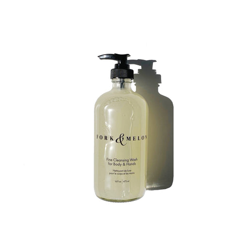 Fine Cleansing Wash for Body & Hands (Glass Bottle)