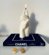 "Load image into Gallery viewer, ""Us"" Candle by Bonam Kim on Chanel coffee table book"
