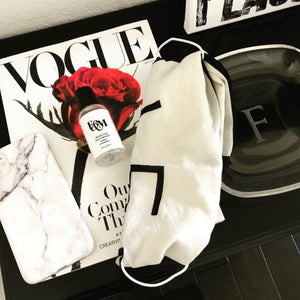 Fork & Melon hand sanitizer with Vogue magazine