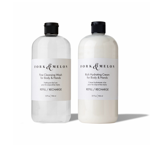 luxury liquid soap and lotion - 32oz refill set