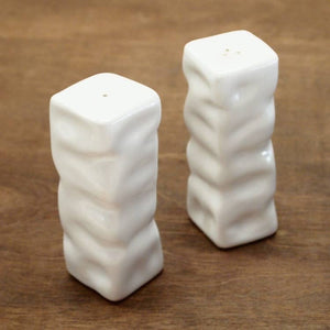Square Ripple Salt & Pepper Shakers - Multiple Colors Available