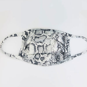 Snakeskin Print Face Mask - NEW