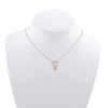 Dainty Opal and Diamond Necklace