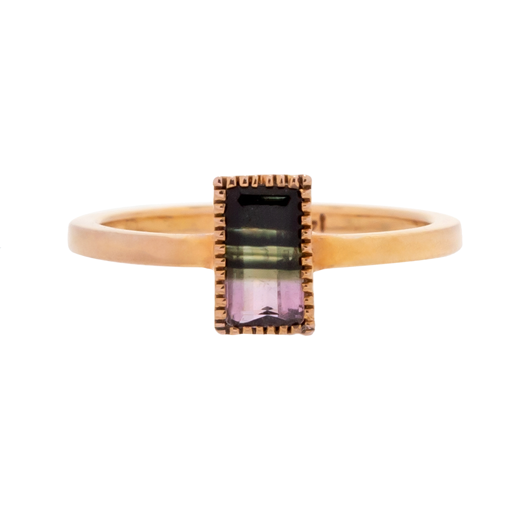 Bi-Color Tourmaline Stacker Ring