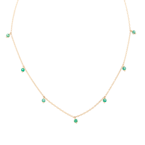 Dainty Emerald Shaker Necklace