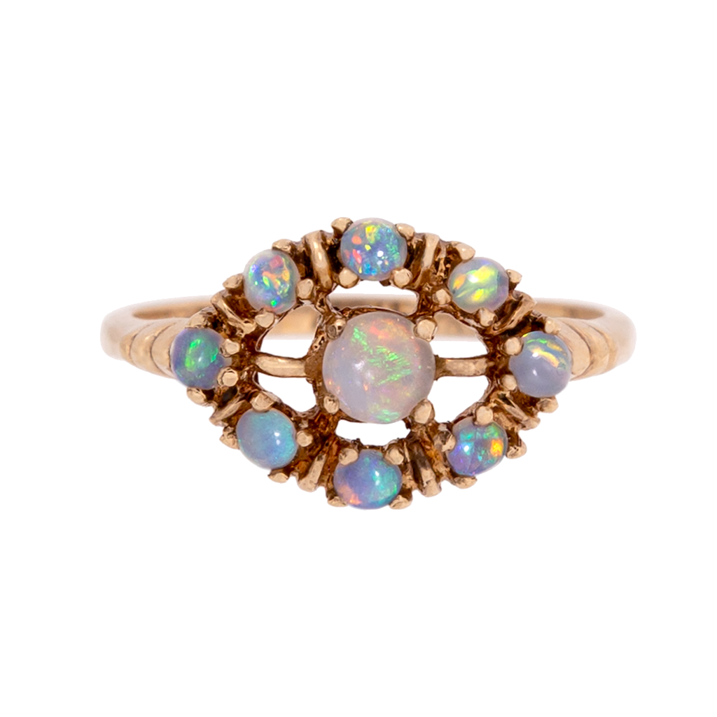 Retro Opal Eye Ring