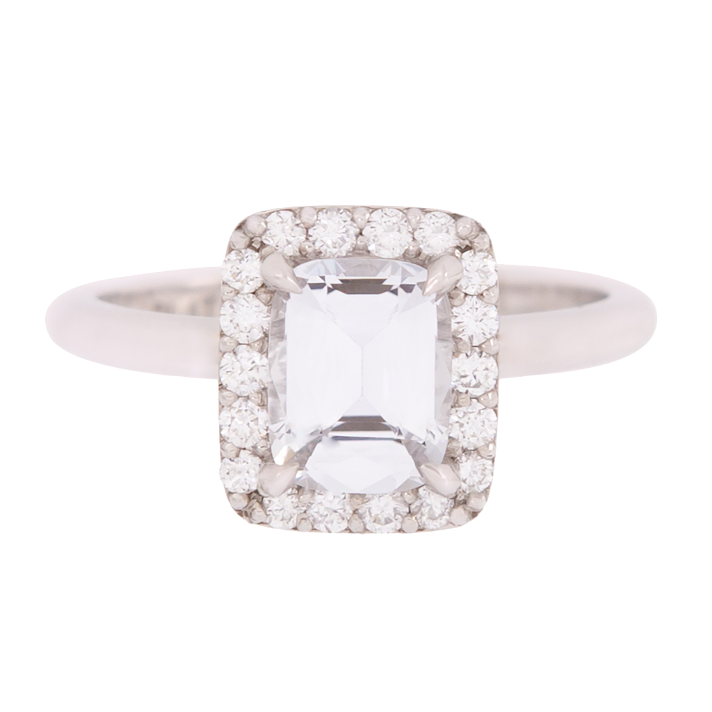 AGL Certified White Sapphire Ring