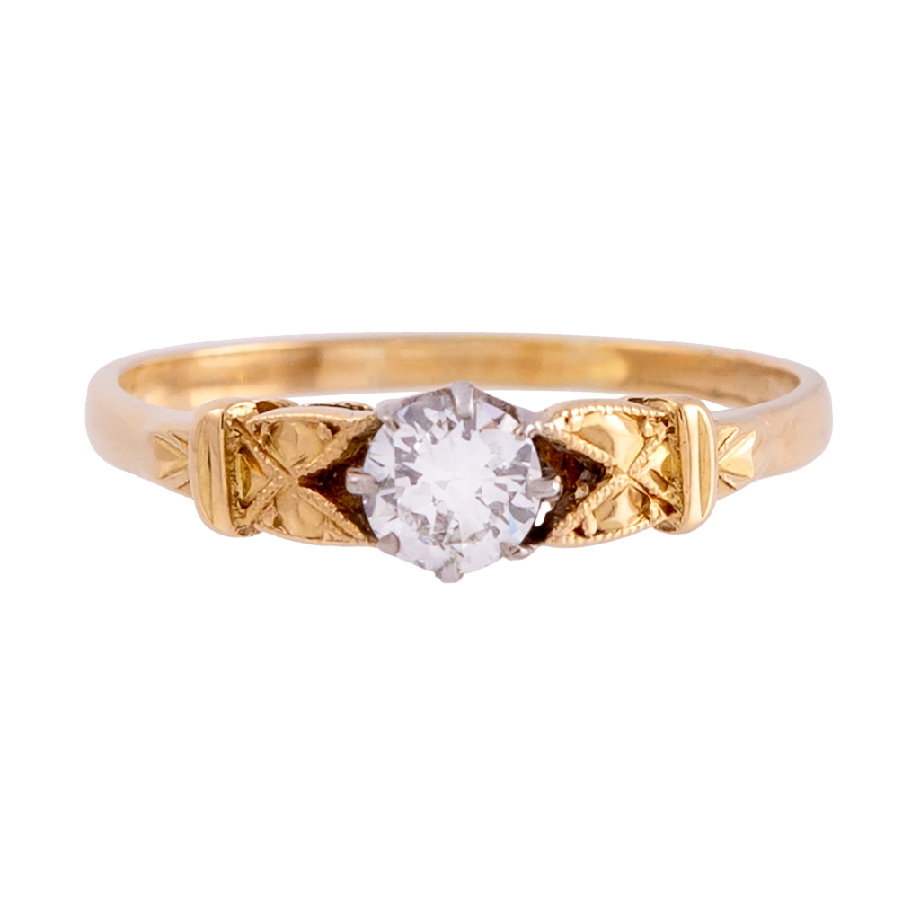 1930s Vintage Brilliant Diamond Ring