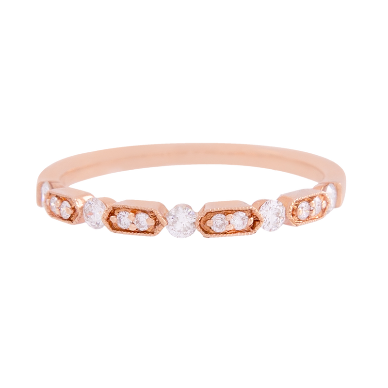 Rose Gold Diamond Deco Band