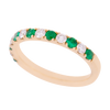 Alternating Emerald and Diamond Band