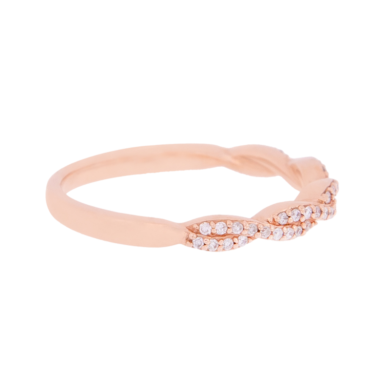 Rose Gold Diamond Half Band