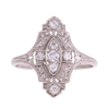 Platinum Art Deco Diamond Ring