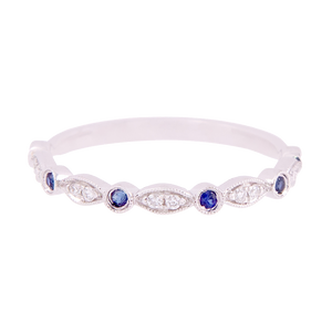 Diamond and Sapphire Marquise Band