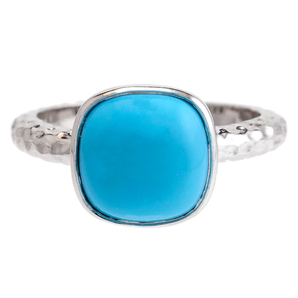 "Turquoise ""Spirit"" Cushion Ring"