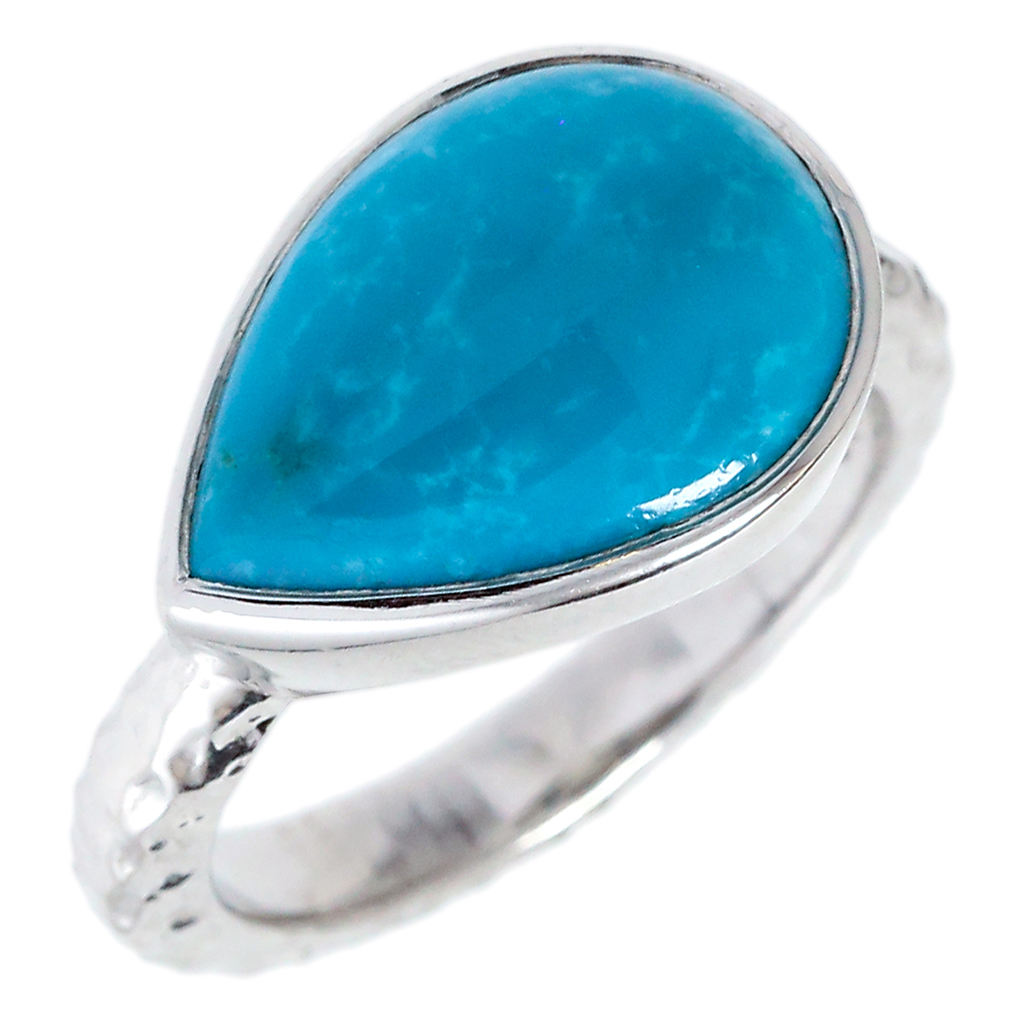 Sleeping Beauty Turquoise Pear Ring