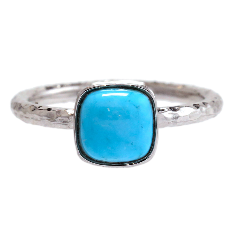 Turquoise Cushion Ring