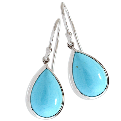 Turquoise Pear Drop Earrings