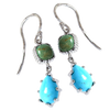Turquoise 2-Tier Earrings