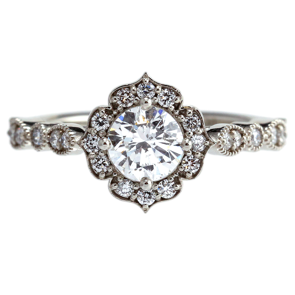 Lotus Diamond Ring
