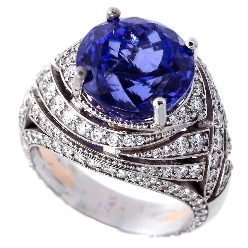 Tanzanite & Diamond Statement Ring