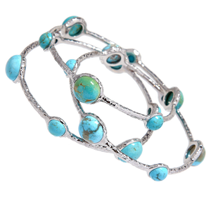 "Turquoise ""Aiyana"" Bangle Bracelet"