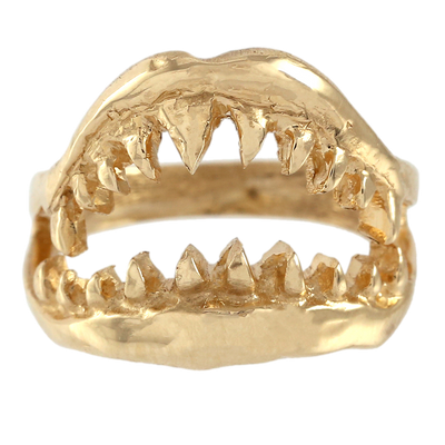 Yellow Gold Jaws Ring