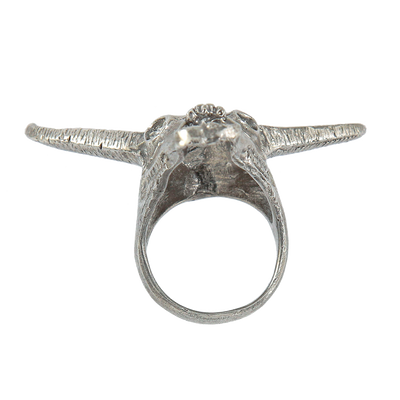 Sterling Silver Longhorn Ring