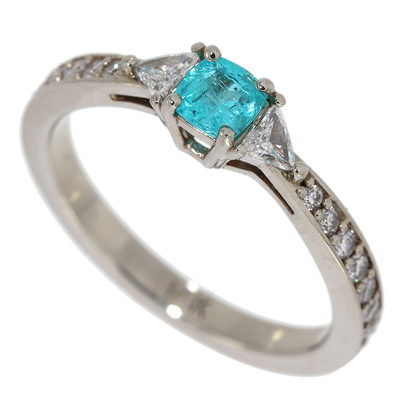 Paraiba Tourmaline & Diamond Ring