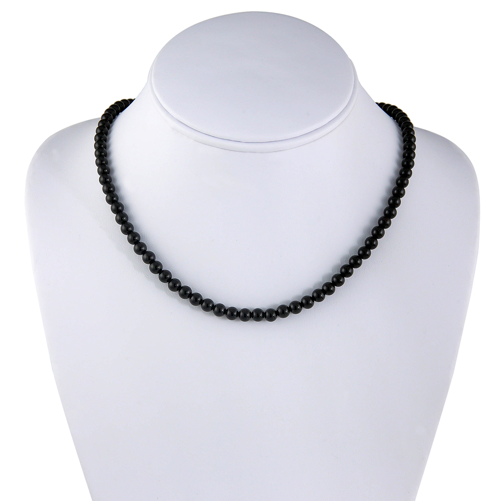 Black Agate Beaded Necklace