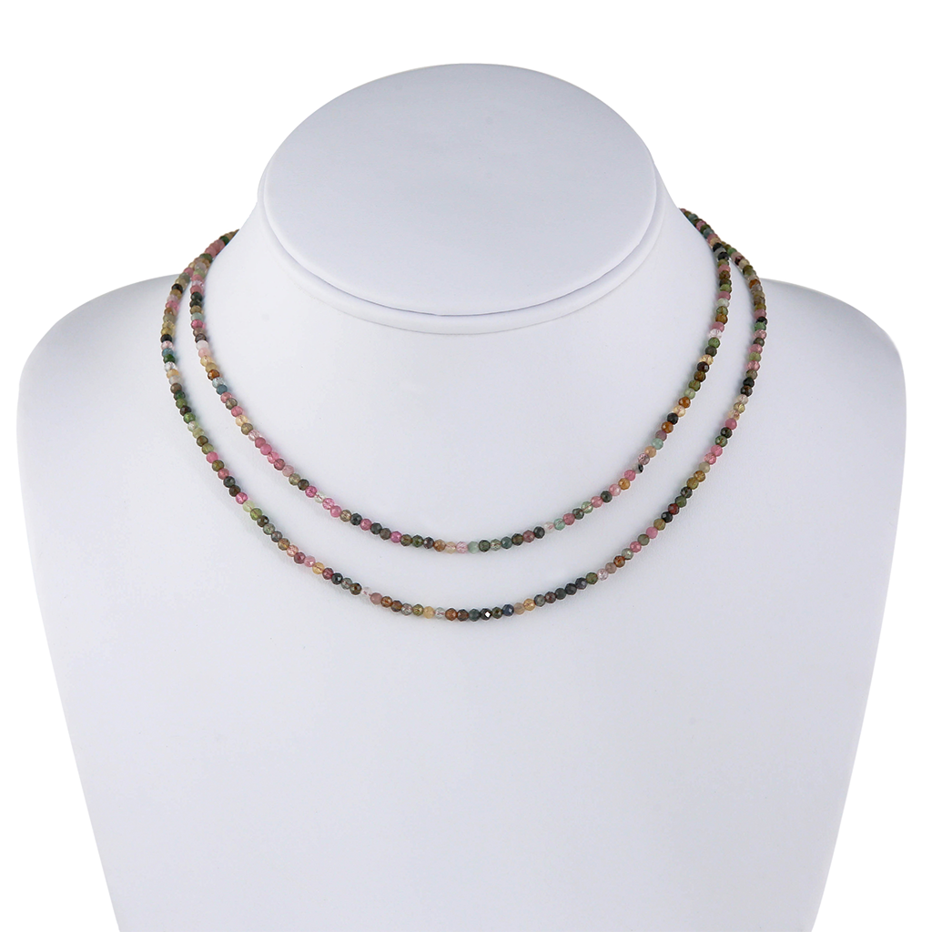 Faceted Tourmaline Beaded Necklace