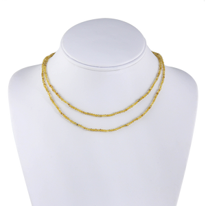 Faceted Golden Rutilated Quartz Beaded Necklace