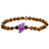Rough Amethyst and Tigers Eye Gemstone Bracelet