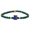 Rough Lapis & Malachite Gemstone Bracelet