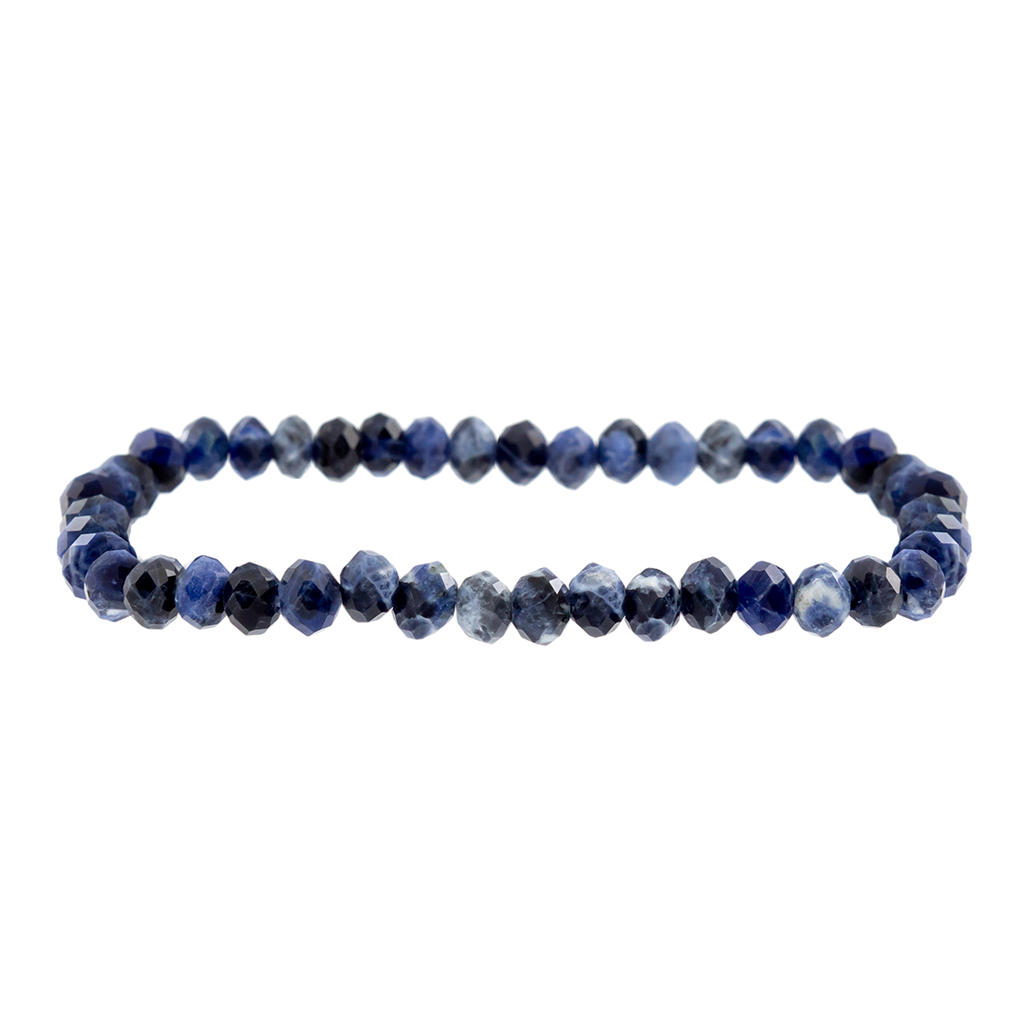 Faceted Sodalite Gemstone Bracelet