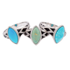 Aztec Small Style Marquise Turquoise Ring