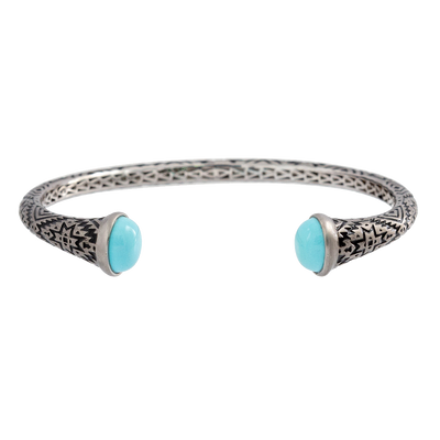 Aztec Round Cabochon Turquoise Cuff