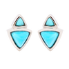 2-Stone Triangle Turquoise Earrings